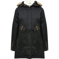 Women's Trespass ladies fur trim hood funnel neck outdoor insulated waterproof parka jacket