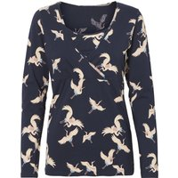 Women's Mamalicious Maternity ladies long sleeve stork print scoop neck wrap over stretch casual top