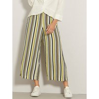 Women's VILA ladies stripe culottes wide leg crepe high waist tie belt