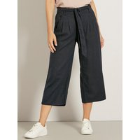 Women's JDY ladies navy paperbag waist culottes wide leg pull on woven fabric