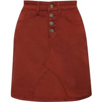 Womens JDY ladies high waisted button front mini skirt