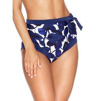 Women's Ladies swimwear floral leaf print high waist tummy control holiday bikini bottoms