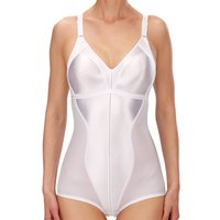 Ladies Naturana full cup slimming control body shapewear  - White