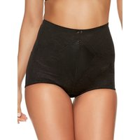 Naturana ladies lace high waist firm control shapewear briefs  - Black