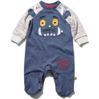The Gruffalo newborn boy cotton blend long sleeve navy character embroidery integral feet sleepsuit