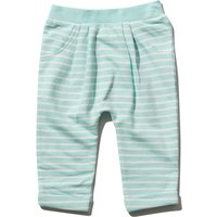 Newborn 100% cotton Blue stripe pattern full length mock pocket detail stretch waist jogger  - Blue