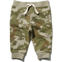 Baby boy camouflage print full length cotton pull on casual joggers  - Khaki
