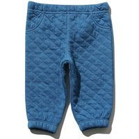 Baby boy cotton rich blue stretch waistband cuffed ankle quilted jacquard jogger  - Blue