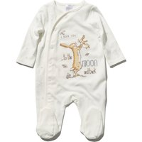 Baby unisex long sleeve Nutbrown Hares character Guess How Much I Love You sleepsuit  - Cream