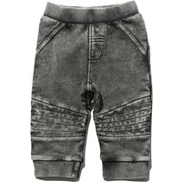 Baby boy full length acid wash cotton rich pull on elasticated jogger trousers  - Grey