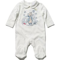 Peter Rabbit newborn baby unisex 100% cotton long sleeve character applique sleepsuit with feet  - W