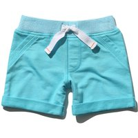Baby boy 100% cotton navy rib stripe stretch waistband pocket plain shorts  - Blue