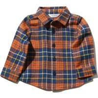 Baby Boys Long Sleeve Classic Collar And Button Front Pure Cotton Check Shirt - Multicolour