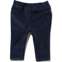 Baby girl cotton rich plain stretch waistband ribbed cord trousers - Navy