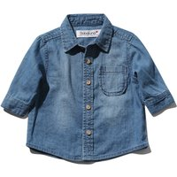 Babaluno For Minoti Baby Boy Blue Pure Cotton Long Sleeve Button Pocket Front Denim Shirt - Denim