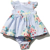 Babaluno For Minoti Baby Girl Light Blue Rose Print Sleeveless Dress And Knickers Set - Light Blue