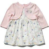 Kids Guess how much I love you baby girl mock cardigan dress  - Pink