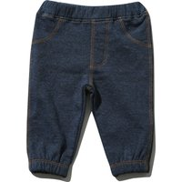 Kids Baby Boy Soft Cotton Cuffed Ankle Elasticated Waistband Pull on Denim Jogger Bottom Trousers  - Denim