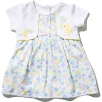 Kids Baby girl floral duck mock cardigan dress with short sleeves  - Turquoise