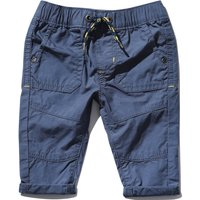 Kids Baby boy cotton elasticated drawstring waist poplin cargo trousers  - Blue