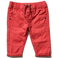 Kids Baby boy poplin cargo trousers  - Red