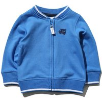 Kids Baby boy bomber jacket with long sleeves and a zip fastening  - Blue