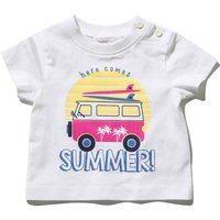 Kids Baby boy slogan summer t-shirt with short sleeves  - White