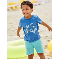 Kids Baby boy best grandson t-shirt short sleeves  - Blue
