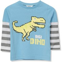 Kids Baby boy dinosaur t-shirt with long sleeves  - Teal