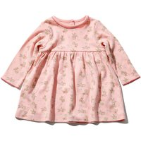 Kids Baby girl bunny dress with long sleeves  - Pink
