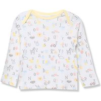 Kids Baby alphabet t-shirt with long sleeves - White