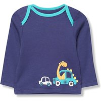 Kids Baby dinosaur t-shirt with long sleeves  - Navy