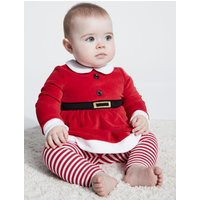 Click to view product details and reviews for Kids Baby Girl Santa Claus Top and Leggings Christmas Outfit Red.