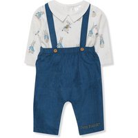 Kids Baby Peter Rabbit dungarees and bodysuit  - Blue