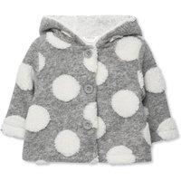 Kids Baby girl spotted wool fleece cardigan - newborn-18mths  - Grey