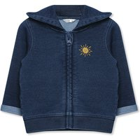 Kids Baby denim look hoodie (Newborn-12mnths)  - Denim Blue