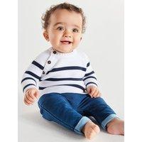Kids Baby Boy Breton Striped Jumper (Newborn-18mths) - Navy/White