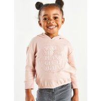 Kids Girls make the planet great again slogan hoodie  - Pink