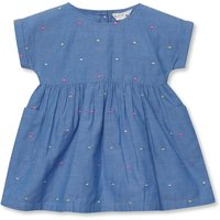 Denim Spot Dress (Newborn-18mths) - Denim