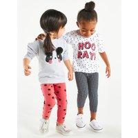 'Kids Girls Panda Sweatshirt And Leggings Set  - Grey Marl