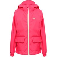 Trespass girls long sleeve pink Blue zip pocket front unlined waterproof hooded jacket  - Pink