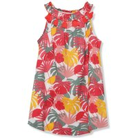 Minoti girls palm print tassel dress sleeveless  - Multicolour
