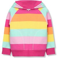 Kids Girls striped rainbow hoodie with long sleeves  - Stripe
