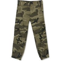 Kids Girls camo print combat trousers  - Khaki