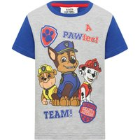 Paw Patrol cotton rich short sleeve crew neck character print slogan t-shirt  - Grey Marl