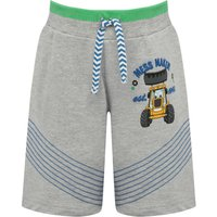 Click to view product details and reviews for Jcb Boys Cotton Rich Grey Marl Joey Character Stripe Print Stretch Waist Jersey Shorts Grey Marl.