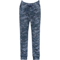 Boys 100% cotton elasticated waistband cuffed ankle pocket side canvas cargo trousers  - Navy