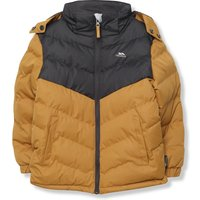 Kids Trespass boys padded jacket with a hood and long sleeves  - Yellow