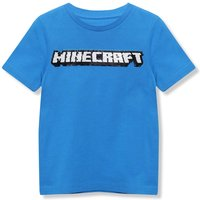 Kids Boys flip sequin Minecraft blue t-shirt  - Blue