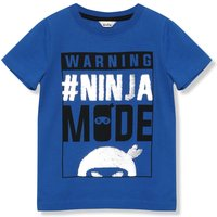 Kids Boys two way sequin ninja t-shirt with short sleeves  - Blue